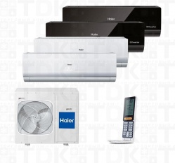 HAIER 4U26HS1ERA / AS09NS4ERA W/W/B/B x 4